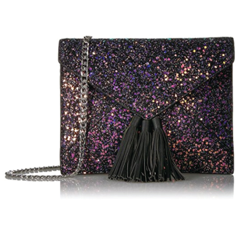 The Fix Izzi Glitter Envelope Clutch