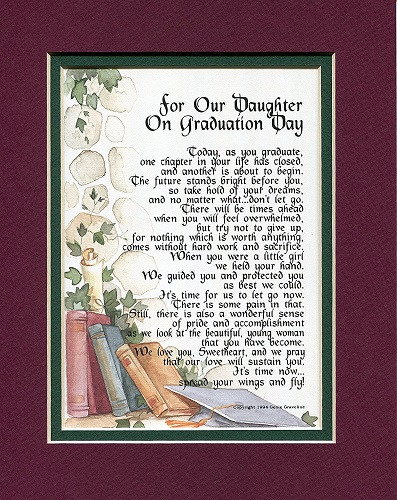 graduation poem for daughter