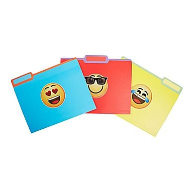 Emoji File Folder Set