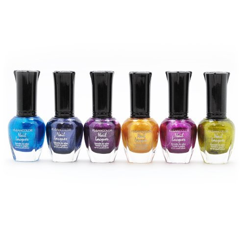 Kleancolor Metallic Nail Lacquer 6 Colors Set