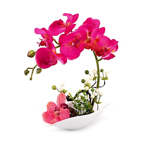 Artificial Orchid Arrangement Bonsai