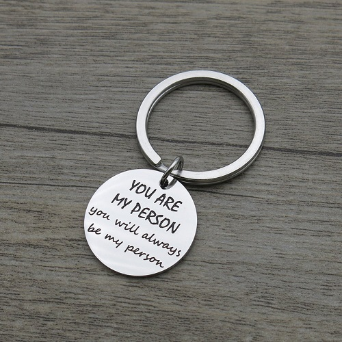 Friendship Quote Pendant Keychain