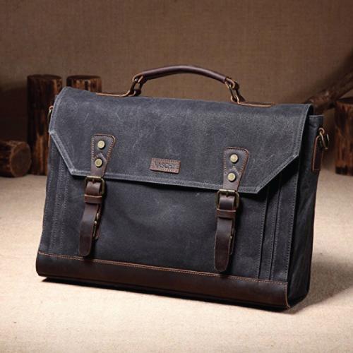 Vaschy Vintage Messenger Briefcase