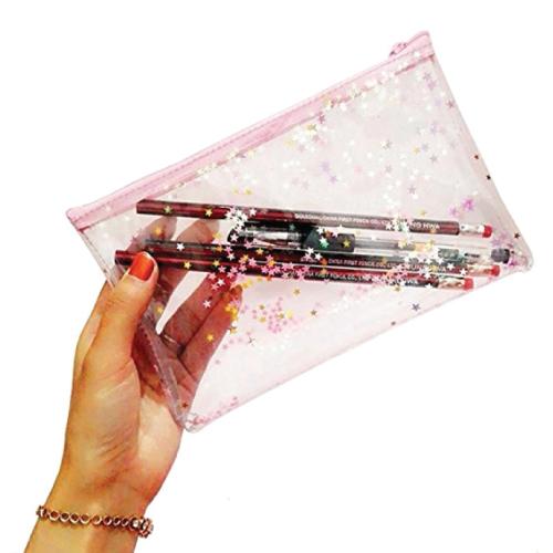 Clear Star Pencil Bag