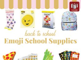 Back to school Emoji School Supplies.