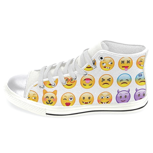 Emoji Canvas Fashion Sneakers