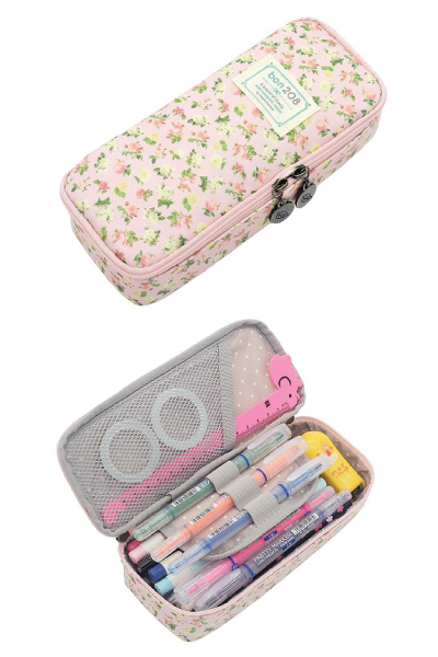 Floral Rose Pencil Case