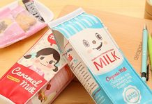 kawaii milk carton pouch