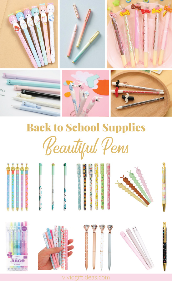 Back to School Supplies Pen Collection