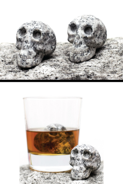 Granite Skull Whiskey Stones