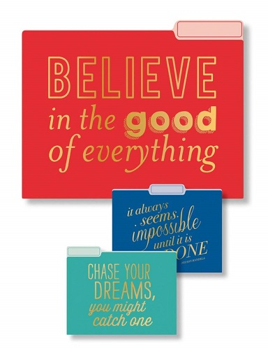 Believe In Good Inspirations File Folders