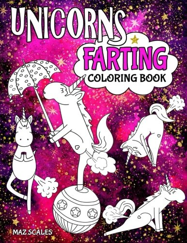 Unicorns Farting Coloring Book