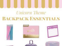 Back to school backpack essentials. Unicorn school supplies