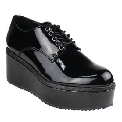 Platform Wedge Oxford Shoes