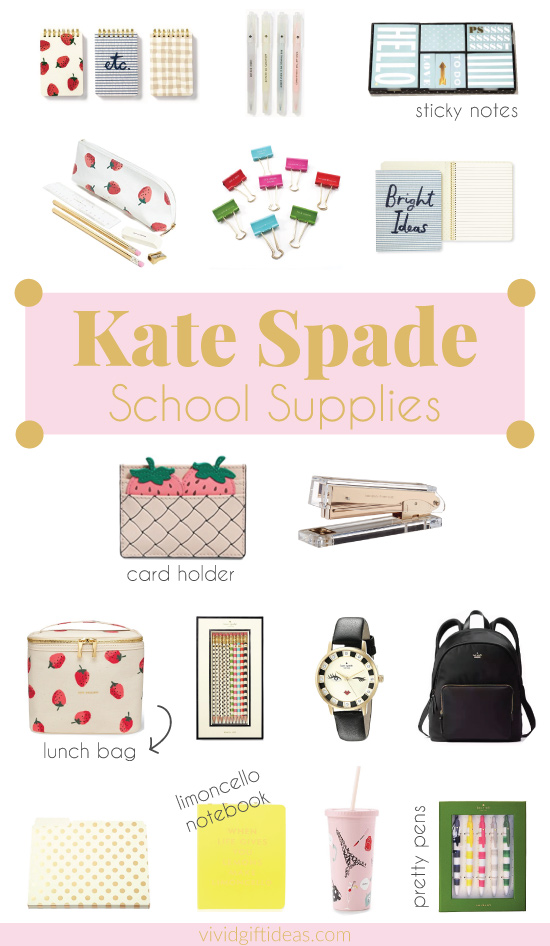 16 Stylish Kate Spade School Supplies for the Fans - 2018 Back to School