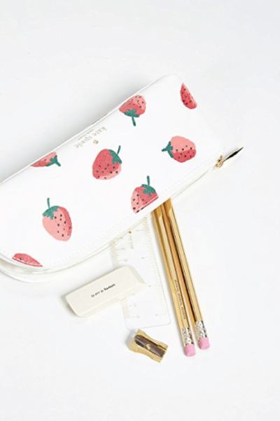 Kate Spade Strawberries Pencil Case