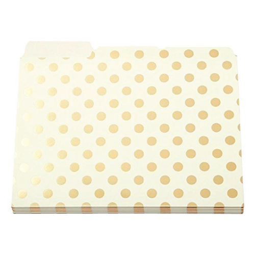 Gold Foil Dots File Folders