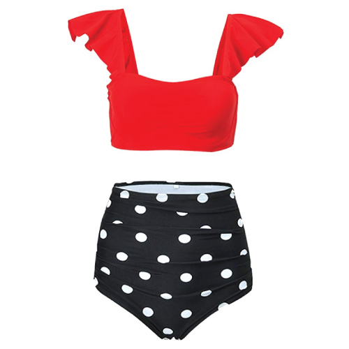 Beachqueen Retro High Waisted Bathing Suits