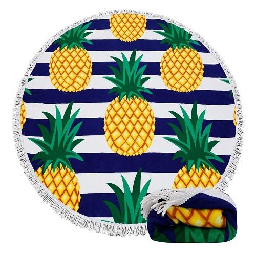 Pineapple Pattern Beach Towel Blanket