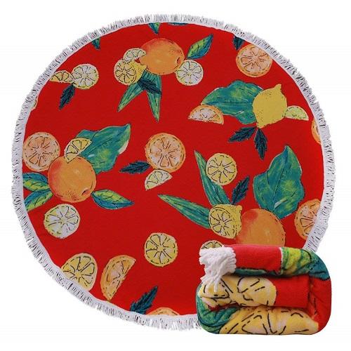 Vintage Grapefruits Design Beach Towel