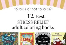 Stress Relief Adult Coloring Books