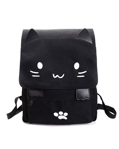 Canvas Cat School Bag