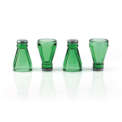 Recycled Beer Bottle Top Shot Glasses