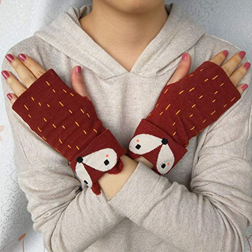 Fox Pattern Gloves