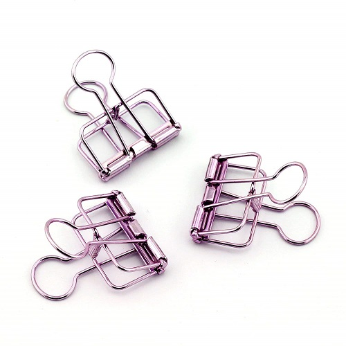 Purple Binder Clips