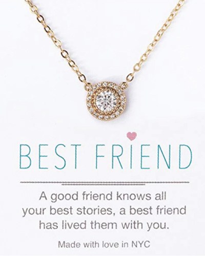 Best Friend Crystal Pendant Necklace