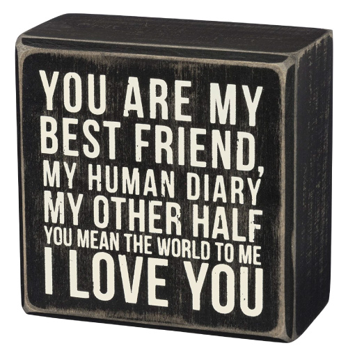 You Are My Best Friend Box Sign