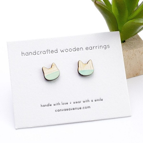 Canvas Avenue Cat Earrings