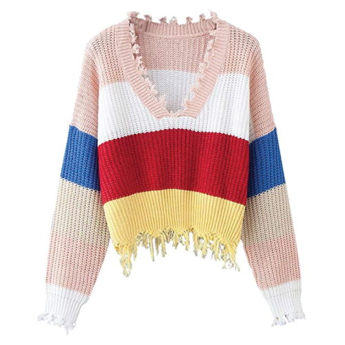 DEZZAL Ripped Knit Sweater