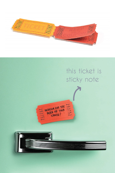 Ticket Sticky Notes