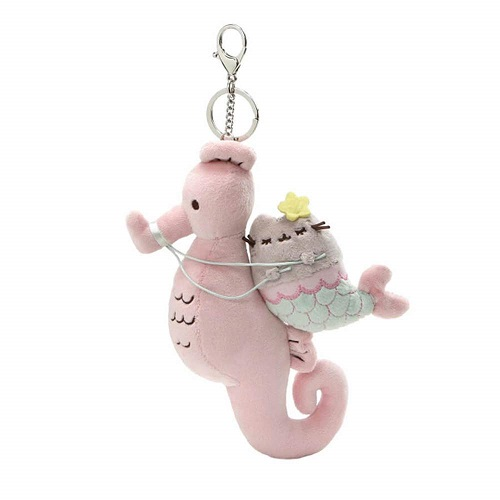 Pusheen Mermaid Plush Keychain