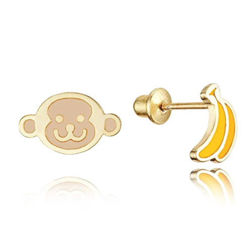 Monkey Banana Earrings