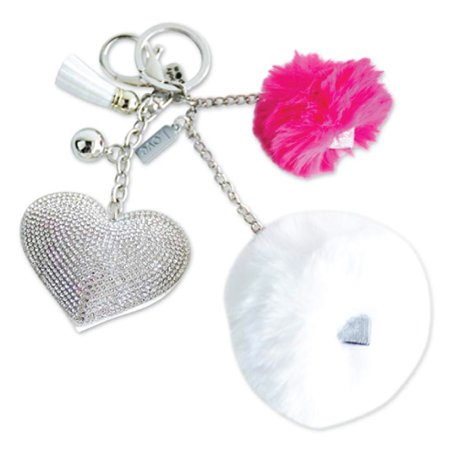 Heart Message Pom Pom Keychain