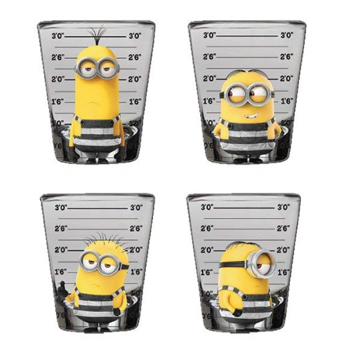 Despicable Me Minions Mugshot Mini Glasses