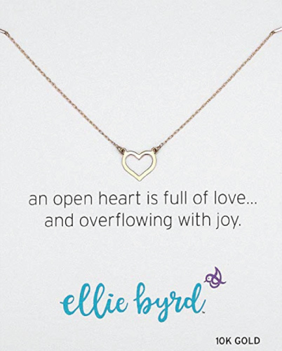 ellie byrd Open Heart Necklace