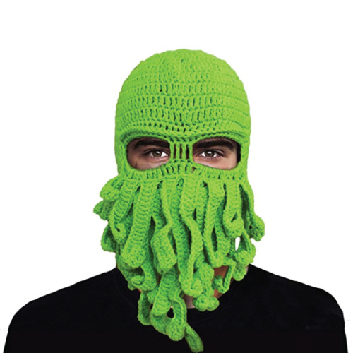 Tentacle Crochet Beard Beanie