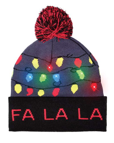 LED Light-Up Ugly Beanie