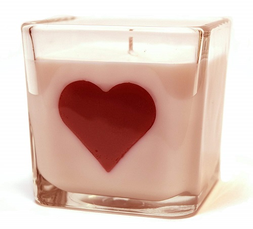 Pink Grapefruit Mango Heart Candle
