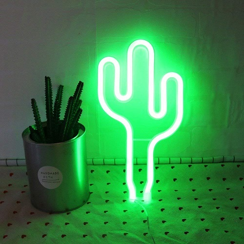 LED Cactus Neon Light