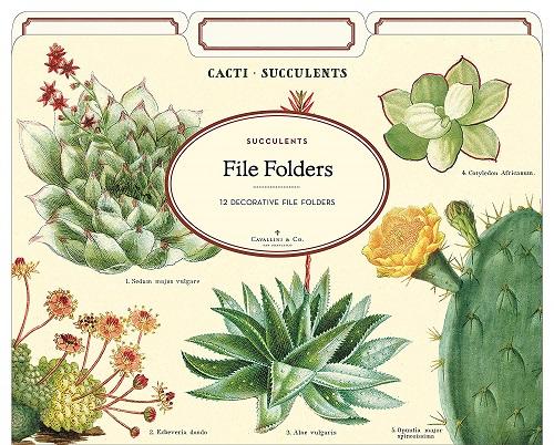 Cavallini Papers & Co. Succulents File Folder Set