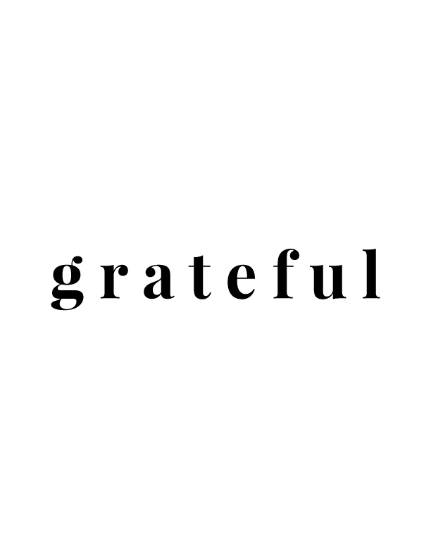Grateful | Free Printables by Vivid Lee
