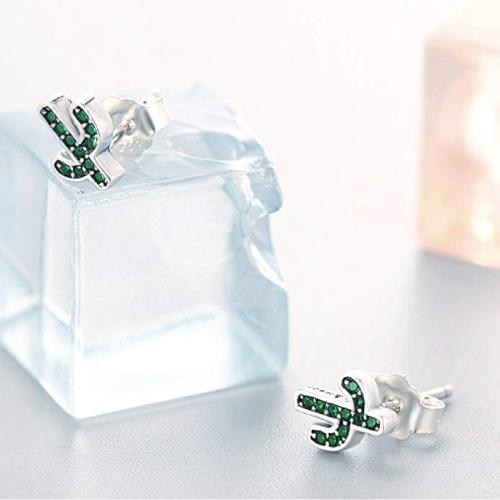 BAMOER Green Cactus Earrings