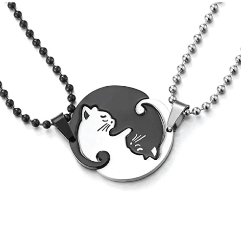 Matching Kitty Pendant Necklace