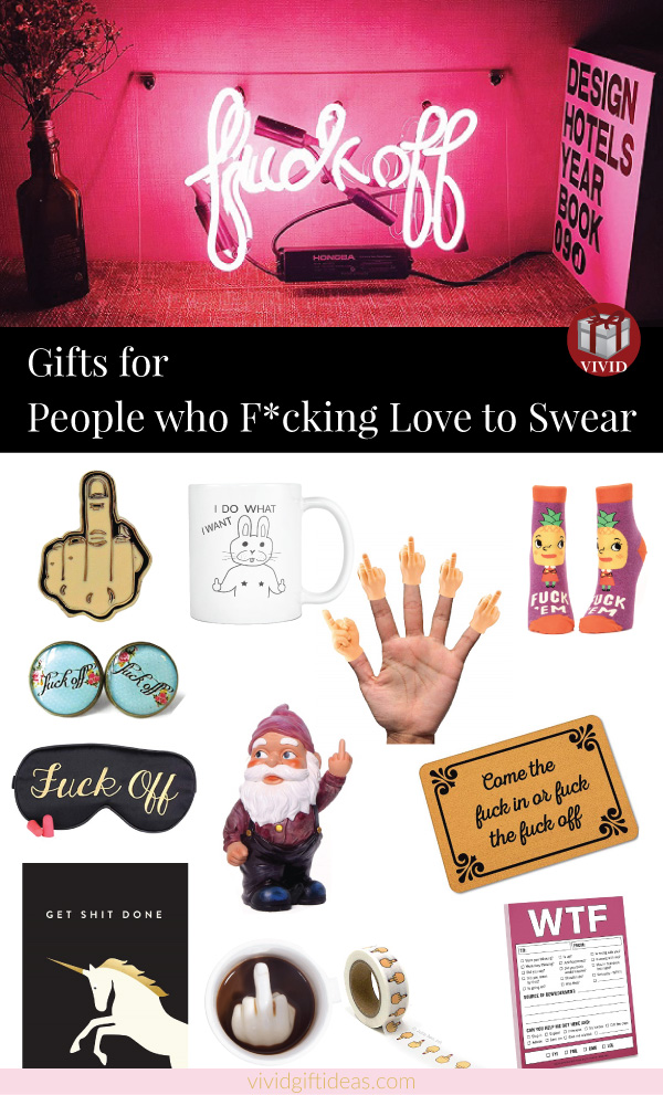 Inappropriate gifts for adult: Swear word gifts