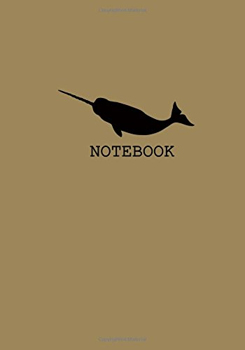 narwhal-lover-gifts Narwhal Unruled Notebook