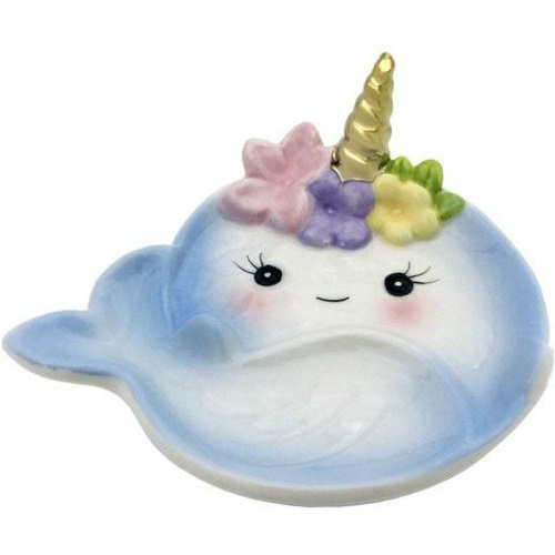 narwhal-lover-gifts Narwhal Trinket Ring Dish